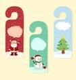 christmas hanger greeting card vector image