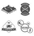 collection ski club logos emblems and symbols vector image