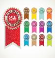 Color sale label set vector image