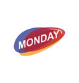 colorful monday icon vector image vector image