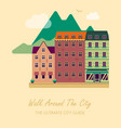 concept for city guide beautiful town houses vector image vector image