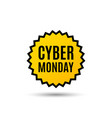 cyber monday sale special offer price sign vector image