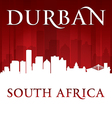 Durban South Africa city skyline silhouette vector image vector image
