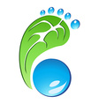 Eco Friendly Footprint vector image vector image