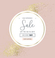 elegant luxury nude rose pink blush and gold vector image vector image