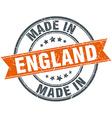 England orange grunge ribbon stamp on white vector image vector image