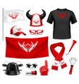 fan buff gear accessories realistic set vector image vector image