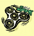 fidget spinnerhand painted watercolor and ink vector image vector image