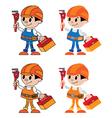 figures of plumber vector image vector image