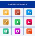 flat design smartphone icon part ii vector image vector image