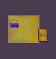flat shading style icon wardrobe sale discounts vector image vector image