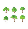 flat tree icon trees forest simple vector image