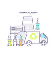 garbage recycling flyer vector image