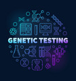 genetic testing round colorful outline vector image vector image