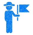 Gentleman Commander Grainy Texture Icon vector image vector image