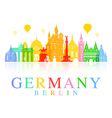 Germany Berlin travel landmark vector image vector image