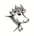 graphic artistic stylized image of cow head vector image