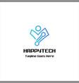 happy technology logo vector image