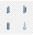 isometric skyscraper set of skyscraper cityscape vector image