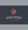 label wine restaurant vector image