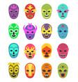 lucha libre mask martial wrestler fighter clothes vector image vector image