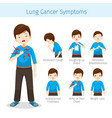 man with lung cancer symptoms vector image vector image