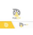 movie and wifi logo combination cinema vector image