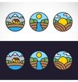Nature Landscape Logo Template Set vector image vector image