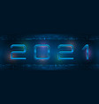 new 2021 year header light background technology vector image vector image