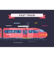 Passenger and transportation trains vector image