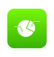 percentage diagram icon digital green vector image