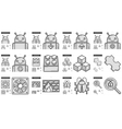 Programming line icon set vector image vector image