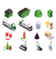 recycling waste isometric collection vector image vector image