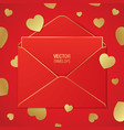 romantic greeting card design vector image vector image