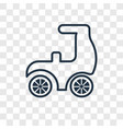 scooter concept linear icon isolated on vector image