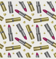 seamless pattern with realistic 3d lipstick vector image vector image