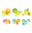 set 6 abstract icons vector image vector image