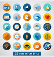 set basic icons vector image vector image