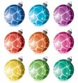 set of holiday balls vector image vector image
