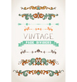 Set of vintage page decorations and dividers vector image vector image