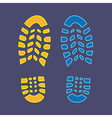 Shoes print vector image vector image