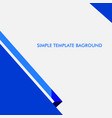 simple baground certificate template design in vector image