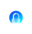 smart lock logo icon for apps vector image