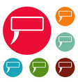 speech bubble icons circle set vector image