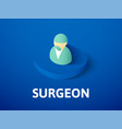 surgeon isometric icon isolated on color vector image vector image