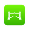tower bridge icon digital green vector image