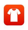 tshirt icon digital red vector image vector image