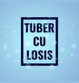 tuberculosis awareness poster vector image vector image