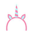 unicorn horn and ears poster vector image