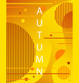 unique autumn geometric background with gradient vector image vector image